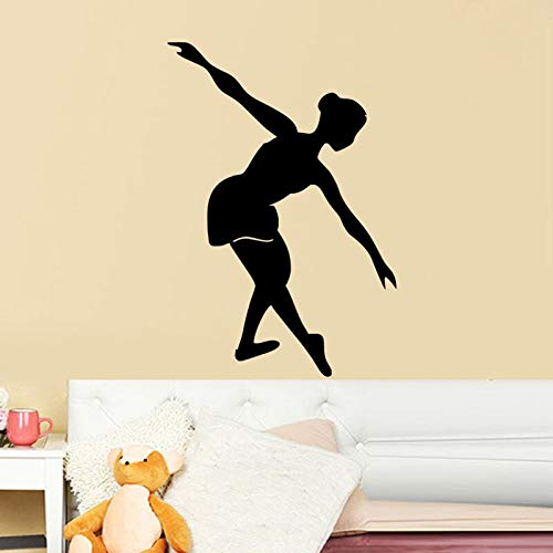 Balletttänzerin Wandaufkleber Mädchen Schlafzimmer Wand Dekorative Vinyl Aufkleber Tanzsaal Fensteraufkleber 59X86CM (Ford Mädchen Kleidung)
