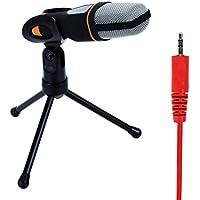 I3C Microfono PC Microfono a Condensatore-3.5 mm Spinotto Stereo Mensola di Sostegno Microfono Registrazione Microfono per Telefono/Computer/Mac/Video