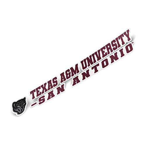 Texas A&M University San Antonio Aufkleber mit Namen und Logo, Vinyl, für Laptop, Wasserflasche, Auto, Scrapbook, 20,3 cm -