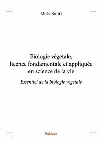 Biologie Vegetale, Licence Fondamentale et Appliquee en Science de la Vie