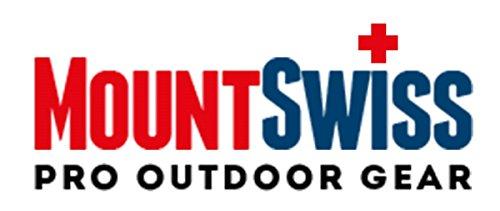 Mount Swiss© Herren Badeshort / Badeshose Doubs Dunkelgrau mit gesticktem Logo