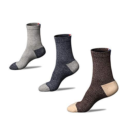 Anliceform Chaussettes en coton pour hommes, Semelle épaisse et confortable, Chaussettes de...