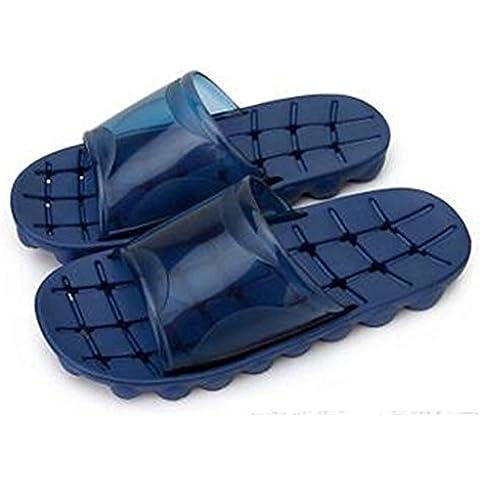 Coppie di uomini traspirante ambientale Tasteless antiscivolo famiglia bagno doccia spiaggia piscina sandalo ciabatta 2 , navy blue , 42/43 - Navy Blue Slittamento