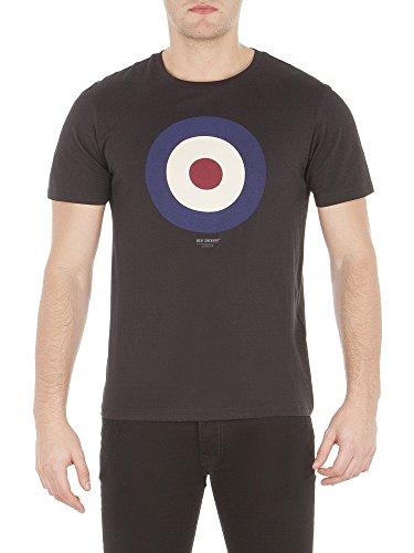 ben-sherman-target-tee-t-shirt-homme-schwarz-true-black-tbl-l