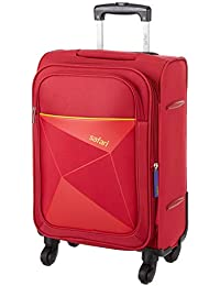 Safari Prisma 55 Cms Polyester Red Cabin 4 wheels Soft Suitcase