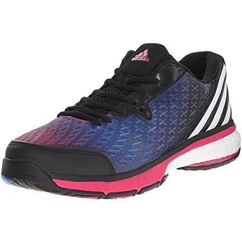 Adidas Performance Boost 2.0 Energía del voleo de zapatos, negro / blanco / color de rosa negrita,