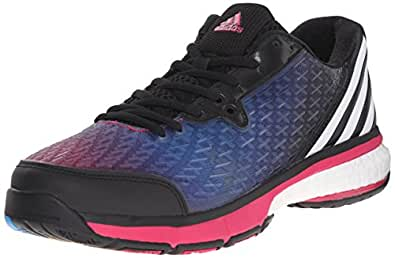 Adidas Performance Energy Volley Boost 2.0 W Shoe,black/white/bold Pink,11 M Us
