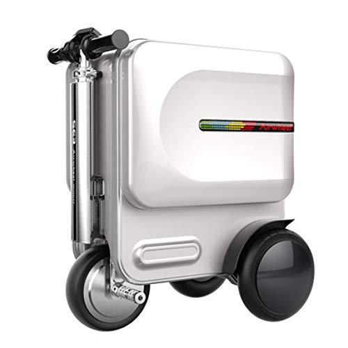 XDDJH Borsa da viaggio con ruote da viaggio con ruote elettriche, valigia con ruote intelligente, custodia per trolley a scomparsa, cabina lussuosa da trasportare