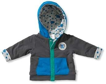 Noppies Baby - Jungen Weste 24610-Cardigan jersey rev. Balder, Gr. 68, Grau (anthracite)