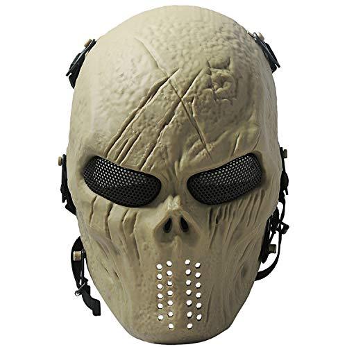 COOFIT Airsoft Maske Skull Paintball MaskeMaske Halloween Masken für Männer