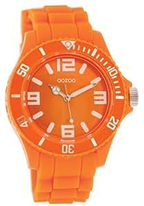 Oozoo Unisex-Armbanduhr Silicone Collection Analog Silikon orange C4287