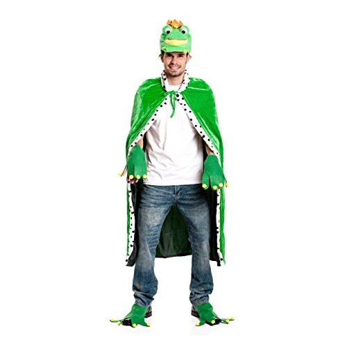 Kostümplanet® Frosch König Umhang Froschkönig Herren + Damen Kostüm (ohne Mütze)