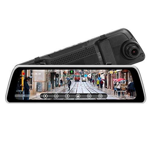 35 Zoll IPS DrüCken Auto Spiegel Video Kamera GPS Spur Wdr Fhd 1080P Dash Kamera Mit 720P Cam Recorder Hinten Dvr ()