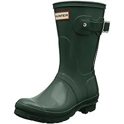 Hunter Low Wellington Boots, Botas de Agua para Mujer, Verde (Green HGR), 39 EU
