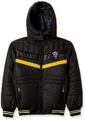 Fort Collins Boys Regular Fit Jacket (76128_Black_30 (10 - 11 years))