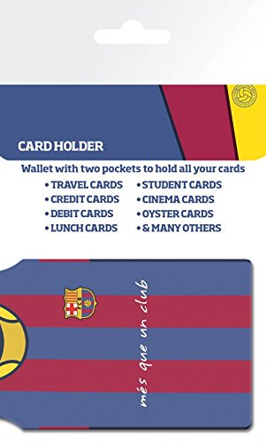 1art1® Set: Football, FC Barcelona, Lionel Messi Porte-Carte Bancaire pour Fans (10x7 cm) + 1x Sticker Surprise