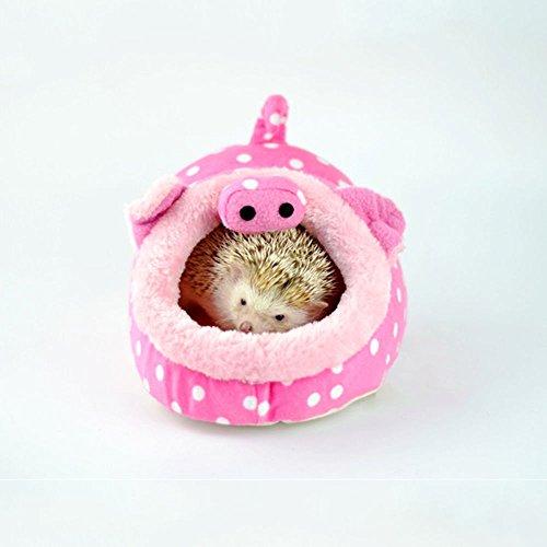 Winterworm Cama de Peluche Suave para Mascotas con Almohadilla Extraíble para Hámster, Erizo, cobaya, Cerdo, Gato de bebé