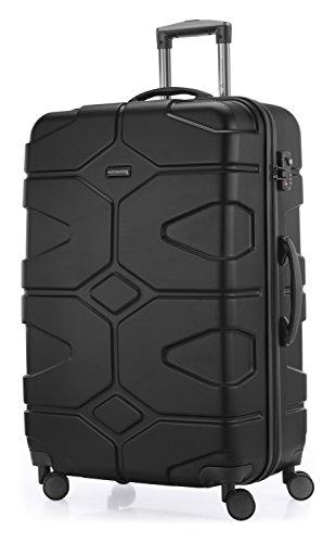 HAUPTSTADTKOFFER - X-Kölln - 2er Koffer-Set Trolley-Set Rollkoffer Reisekoffer, TSA, (S & L), Schwarz matt - 5