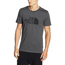 The North Face T-Shirt Uomo con Logo, Easy Tee, 100% Cotone, Grigio, XL