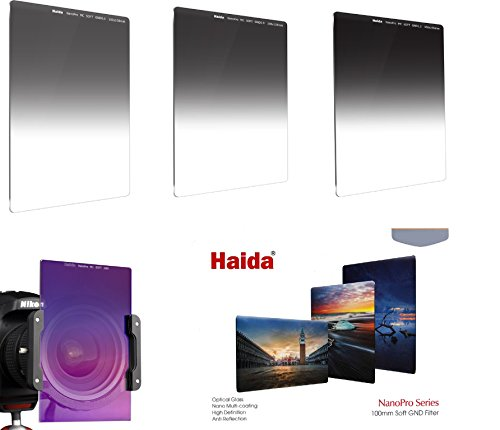 HAIDA Optical NanoPro MC Optical Serie 100 GND Soft Edge Verlaufsfilterset II ND 0.6 (4x) / ND 0.9 (8x) / ND 1.2 (16x)