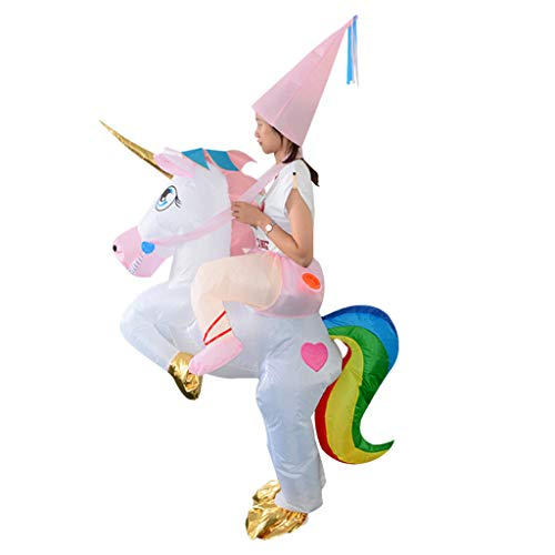 P Prettyia Traje de Unicornio Inflable Disfraz Accesoiros de Casa Organizador Portátil Ligero Duradero
