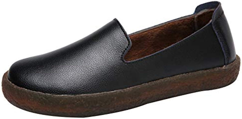 Uirend Chaussures Mocassins Femme - - - Classique en Cuir Rembourré en Mousse mémoire à Enfiler Plates MocassinB07HTCLPCFParent a00784