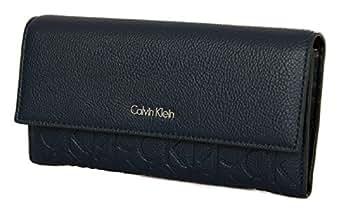 Calvin Klein – Misha – Large Trifold Damen Portemonnaie Blau   Geldbörse