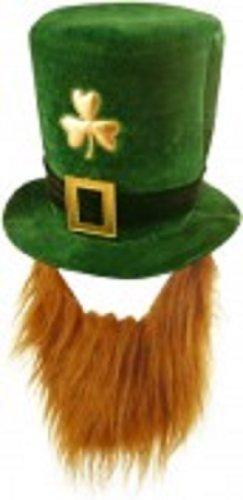 Velvet Shamrock Hat With Beard -...