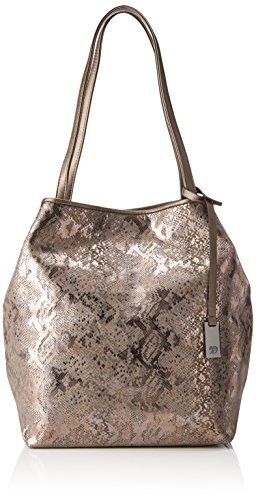 TOM TAILOR Denim Damen Mila Vip Tote, Braun (Bronze), 14x34x44 cm