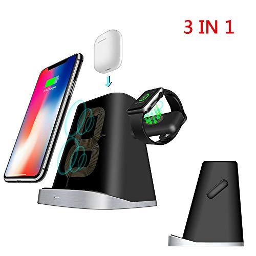 iWatch Ständer, Airpods-Ladestation, Telefon-Desktop-Tablet-Halter für Airpods, Apple Watch/iPhone X / 8 Plus / 8/7 Plus ()