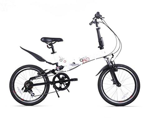 MASLEID 20 pouces en alliage à 7 rapports vélo pliant mini-vélo