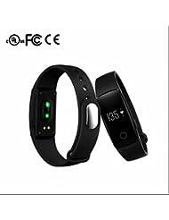 Smartwatch Bracelets énergétiques,Cardiofréquencemètres,Montre de Sport Intelligent Bluetooth,chronomètre/tachymètre,Anti-lost Message,Support Micro Sync apple SMS Notification Samsung/HTC/LG/Huawei/ZTE