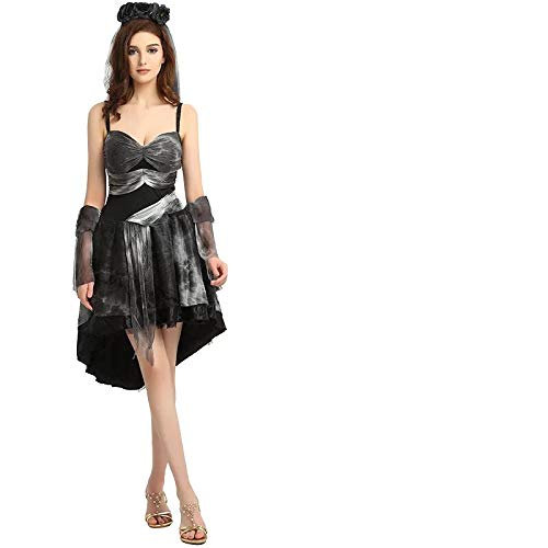thematys Hexenkleid Hexen Kostüm-Set für Damen - perfekt für Fasching, Karneval & Halloween - Einheitsgröße 160-180cm