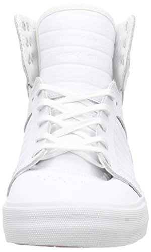 Supra Unisex-Erwachsene Skytop High-Top Weiß (WHITE / WHITE - RED WWR)