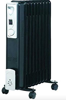 7Fin 1500W Tragbar, Elektrisch öl gefüllter Heizkörper Elektrisch Wohnwagen Heizung Schwarz von Wheels N Bits - Heizstrahler Onlineshop