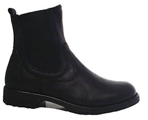 Colpatua Leder Chelsea Boots Stiefeletten Unisex Mädchen Jungen Schwarz