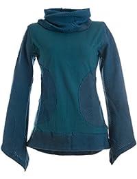 Vishes - Alternative Bekleidung – Damen Pullover aus Baumwolle mit Schalkragen