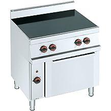Macfrin 3311 Cocina Vitrocerámica de 4 Fuegos y Horno