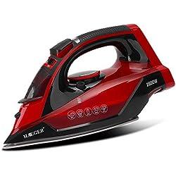 Fer à Vapeur sans Fil HG-1299 2600w, Semelle Microsteam 400 HD, Jet de Vapeur 210 g/Min et Vapeur Continue 40 g/Min, économie d'énergie et autonettoyage