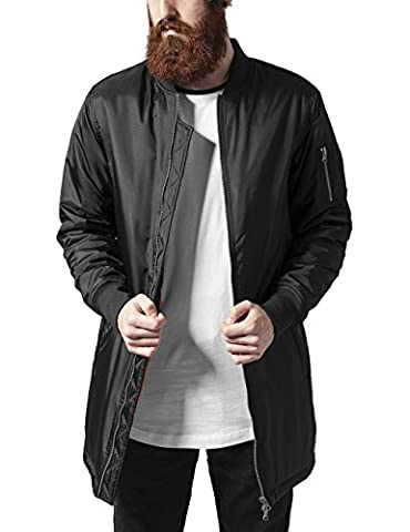 Urban Classics Herren Jacke Long Bomber Jacket, Schwarz (Black 7),