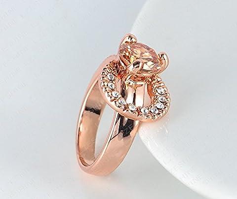 neuesten Design Rose Gold Platte österreichischen Kristall SWA Element übertrieben Ring für Frauen by (Frauen Österreichischen Kristall-ring)
