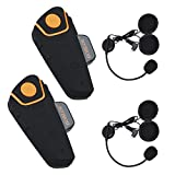 Boblov BT-S2 1000M BT Motorcycle Helmet Bluetooth Headset Motorbike Intercom Headset Intercom...