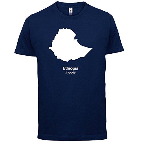 Ethiopia / Äthiopien Silhouette - Herren T-Shirt - 13 Farben Navy