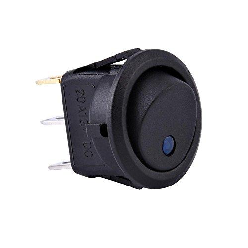 Keenso: interruptores basculantes redondos LED, disponibles en una variedad de estilos hechos especialmente para instalación de 12 voltios. Actualmente se utilizan en automóviles, coches de carreras, vehículos recreativos, camiones de alta resistenci...