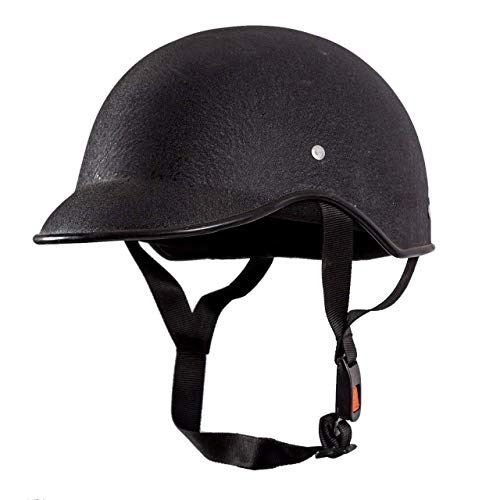 Detachi All Purpose Safety Helmet with Strap (Black, Free Size)