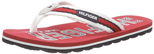 Tommy Hilfiger M3285ARLIN 5D, Tongs garçon Multicolore - Mehrfarbig (TANGO RED/WHITE/MIDNIGHT 611)