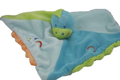 Kiabi - Doudou Kiabi Kitchoun dinosaure plat bleu vert -...
