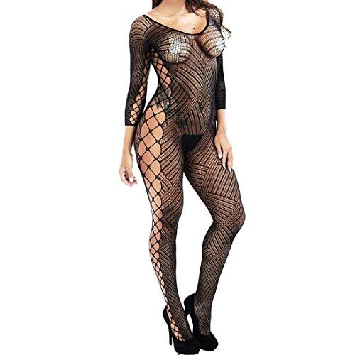 Malloom®Sexy  Damen Unterwäsche  Puppe Kleid  Unterwäsche Nachtwäsche Chemise  Kleid (Q, one size) (Floral Chemise Stretch)