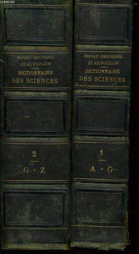 Dictionnaire general des sciences en deux tomes