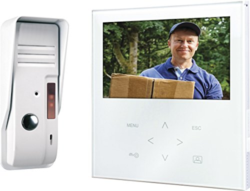 Smartwares VD71 SW Video-Türgegensprechanlage mit flachem Touchscreen-Panel, Farbbildmonitor